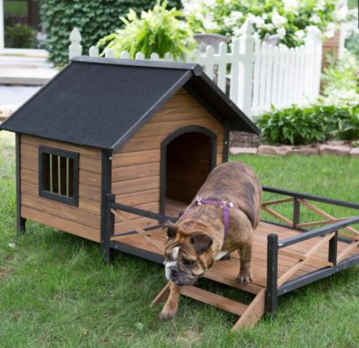 casinha de cachorro com deck