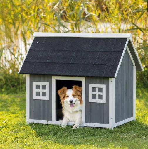 casinha de cachorro de madeira tipo celeiro