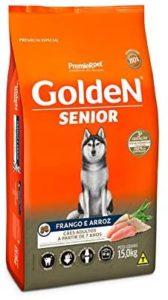 ração golden senior cães idosos