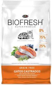 racao para gatos castrados biofresh