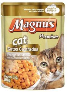racao para gatos castrados magnus