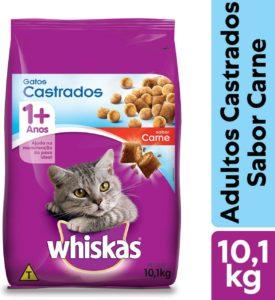 racao para gatos castrados whiskas